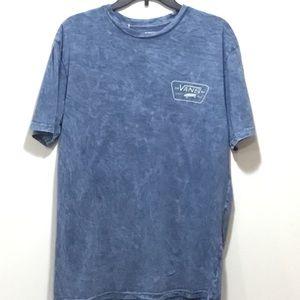 Van Men's Blue Tie-dye T-shirt Size Large